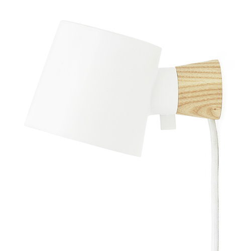 Normann Copenhagen Rise wall lamp, white