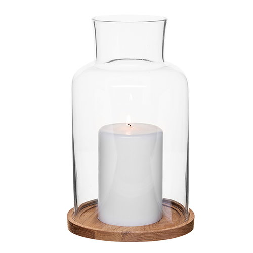 Sagaform Oak candle holder, medium