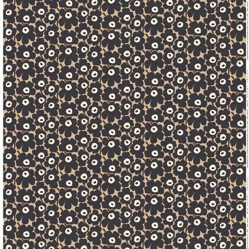 Marimekko Mini Unikko fabric, beige - dark grey - brown