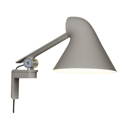 Louis Poulsen NJP wall lamp, short arm, light grey