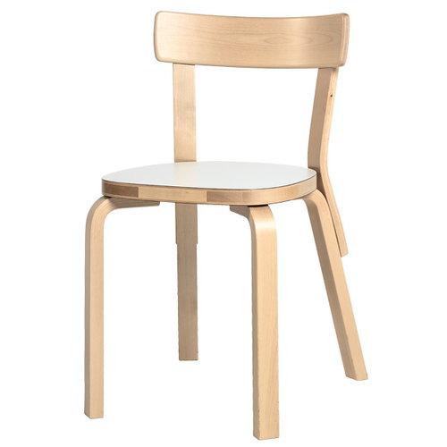 Artek Aalto tuoli 69, valkoinen laminaatti