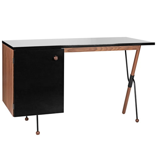 Gubi 62 Desk, walnut - black