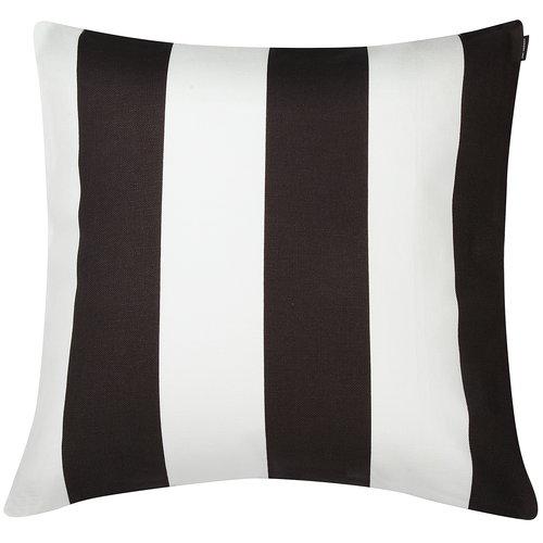 Marimekko Juhlaraita cushion cover 50 x 50 cm, white - black