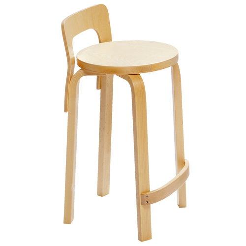 Artek Aalto K65 high chair, birch