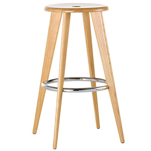 Vitra Tabouret Haut bar stool, natural oak