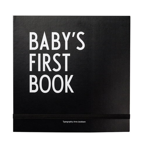Design Letters Baby's First Book, black