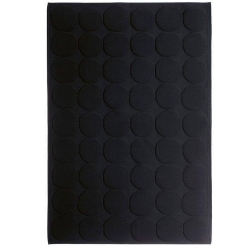Marimekko Pienet kivet kylpyhuonematto, musta
