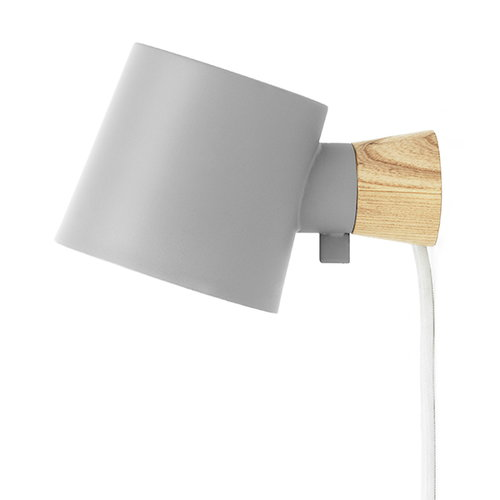 Normann Copenhagen Rise wall lamp, grey