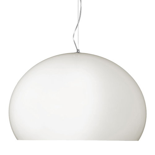 Kartell FL/Y pendant, opaque white