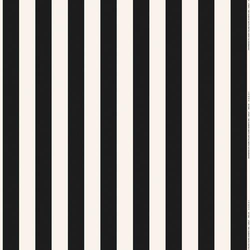 Marimekko Juhla-Raita cotton/linen fabric, white - black