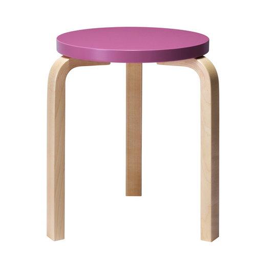 Artek Aalto stool 60, purple-birch