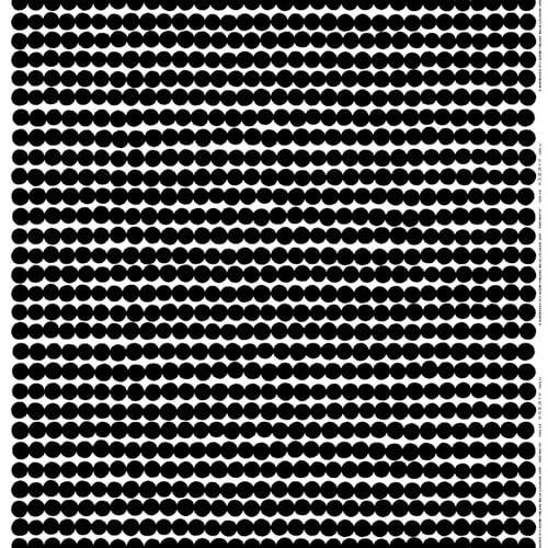 Marimekko Räsymatto kangas, musta