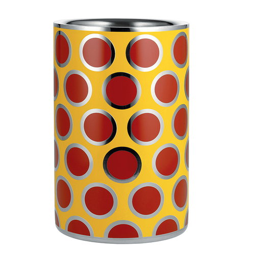 Alessi Circus wine cooler, yellow-red