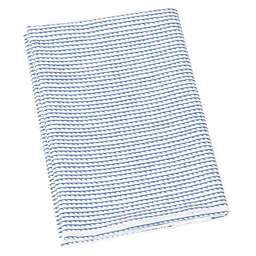 Artek Rivi acrylic coated cotton fabric, 145 x 300 cm, white-blue