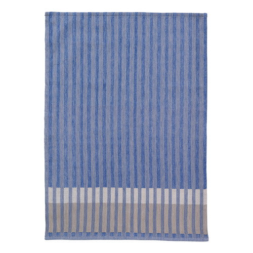 Ferm Living Grain tea towel, blue