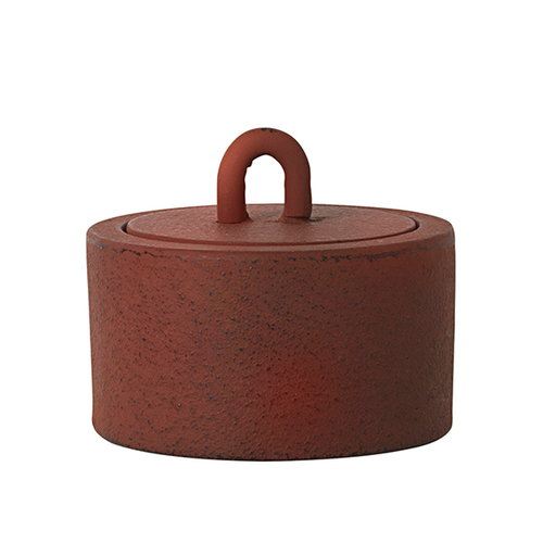 Ferm Living Buckle Jar, small, rust