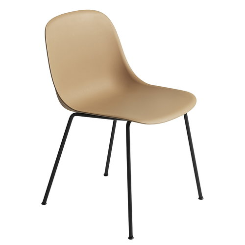 Muuto Fiber side chair, tube base, ochre - black