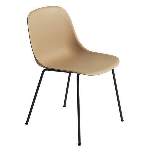 Muuto Fiber ruokap�yd�n tuoli, putkijalat, okra - musta