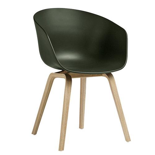 Hay About A Chair AAC22 tuoli, mattalakattu tammi - vihre�