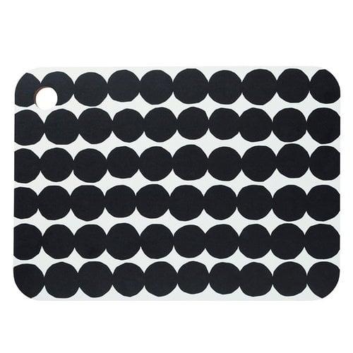 Marimekko Räsymatto cutting board, black-white