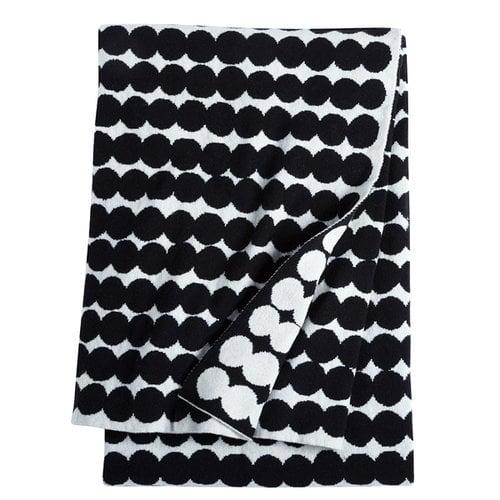 Marimekko R�symatto blanket, black