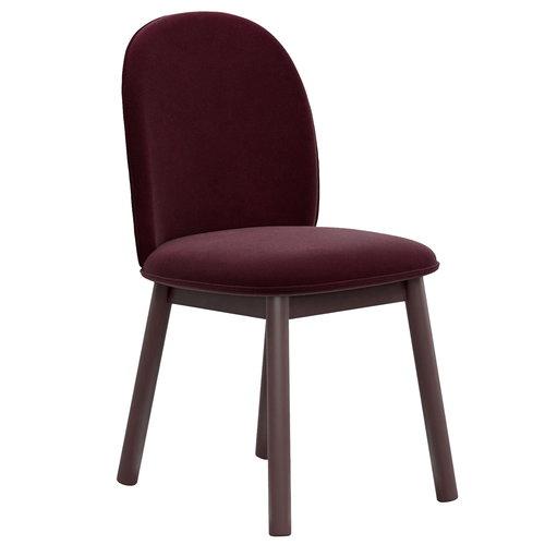 Normann Copenhagen Ace tuoli, velour, tummanpunainen
