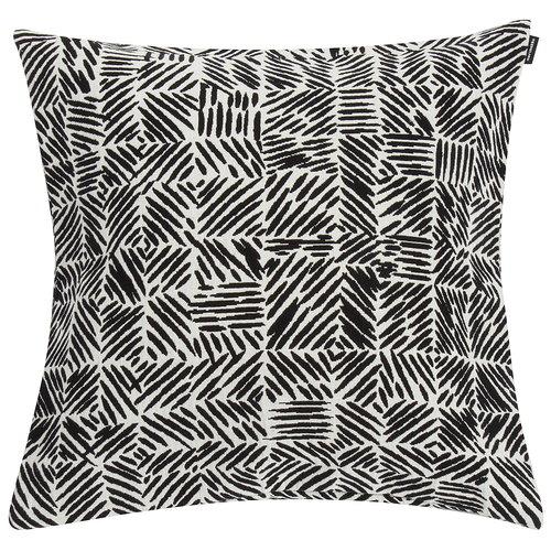 Marimekko Fodera per cuscino Juustomuotti 45 x 45 cm, nero - bianco