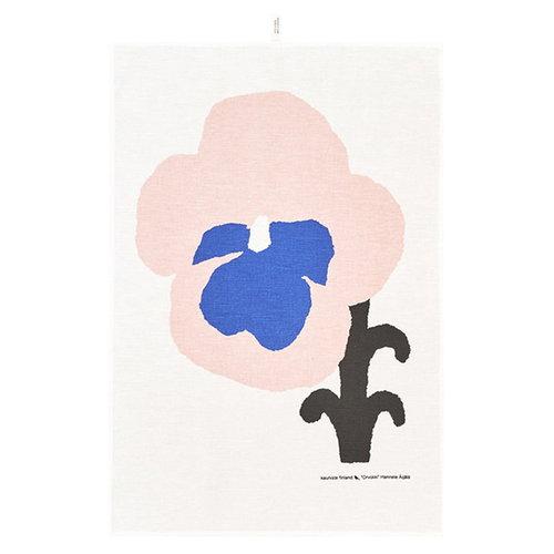 Kauniste Orvokki tea towel, blue