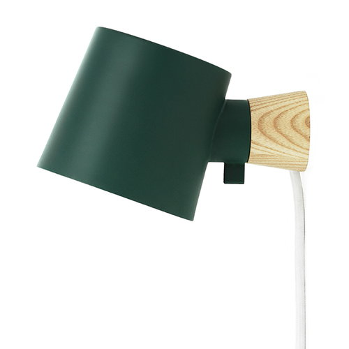 Normann Copenhagen Rise wall lamp, petrol green