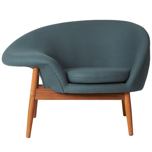 Warm Nordic Fried Egg lounge chair, petrol