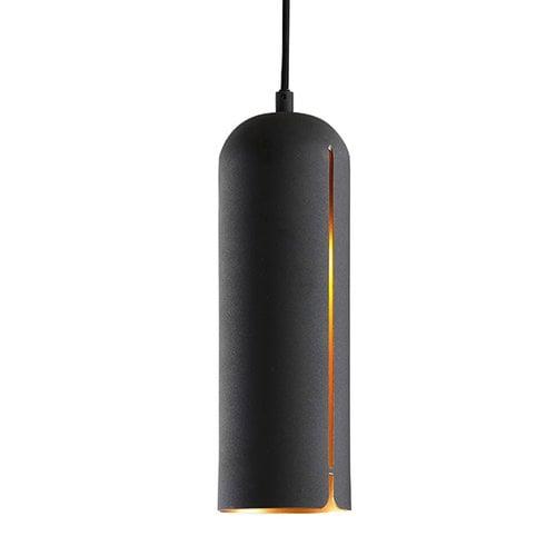 Woud Gap pendant, long, black