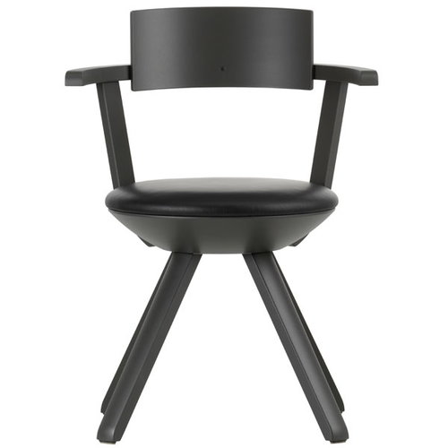 Artek Rival chair KG002, dark grey/leather