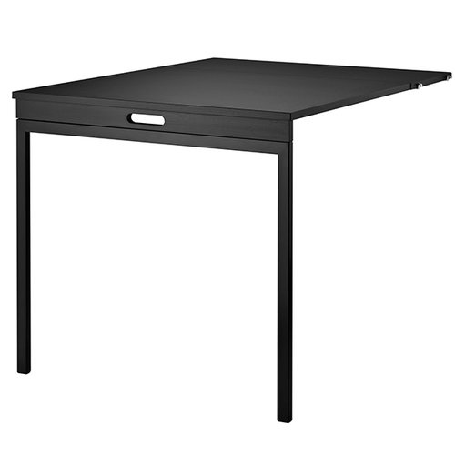 String String folding table, black stained ash