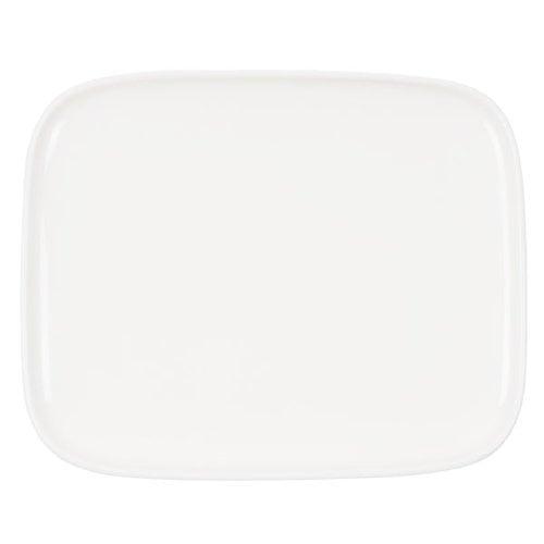 Marimekko Oiva lautanen 15 x 12 cm, valkoinen