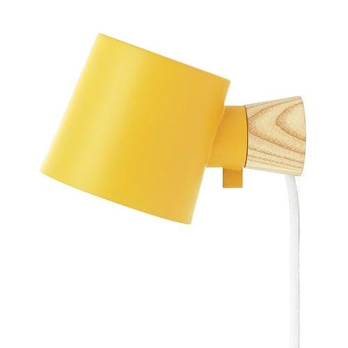Normann Copenhagen Rise wall lamp, yellow