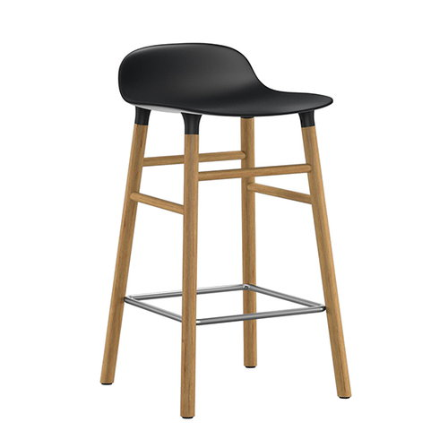 Normann Copenhagen Form barstool, 65 cm, black-oak
