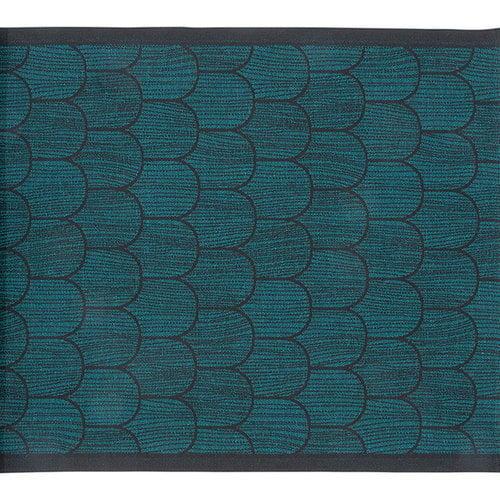 Lapuan Kankurit Paanu seat cover 48 x 150 cm, black-petroleum
