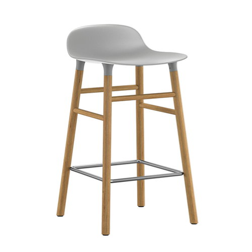 Normann Copenhagen Form barstool, 65 cm, grey-oak