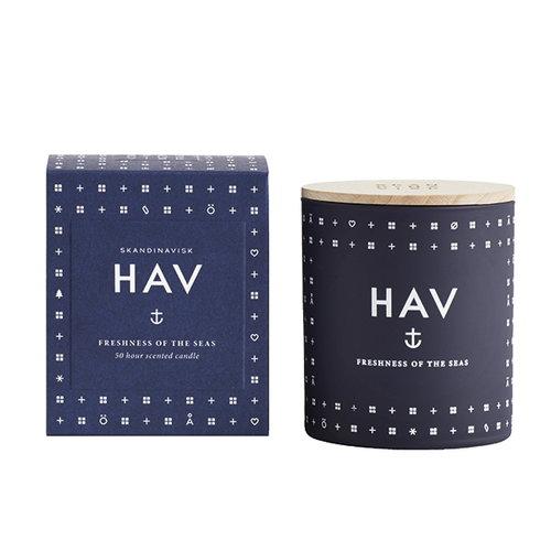 Skandinavisk Scented candle with lid, HAV