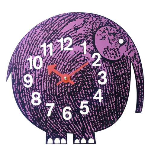 Vitra Zoo Timers wall clock, Elihu the Elephant