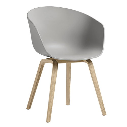 Hay About A Chair AAC22 tuoli, tammi - concrete grey