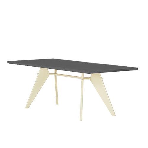 Vitra Em Table 200 x 90 cm, asphalt - ecru