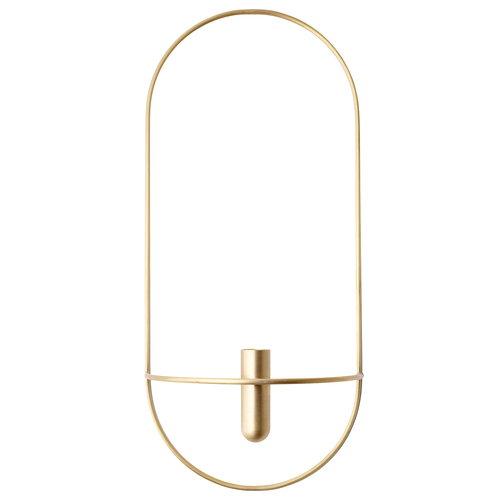 Menu POV Oval candleholder, brass