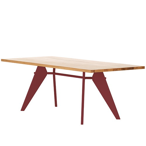 Vitra Em Table 240 x 90 cm, tammi - japanese red