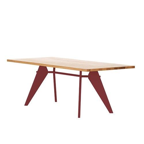 Vitra Em Table 200 x 90 cm, oak - japanese red