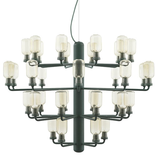 Normann Copenhagen Amp chandelier, large, gold-green