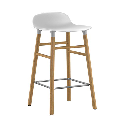 Normann Copenhagen Form barstool, 65 cm, white-oak