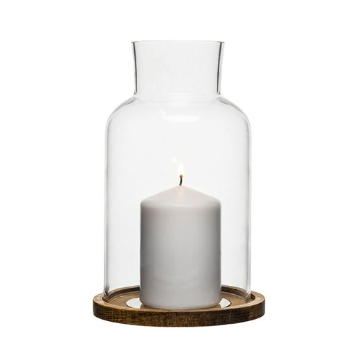 Sagaform Oak candle holder, small