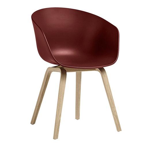 Hay About A Chair AAC22, matt lacquered oak - brick