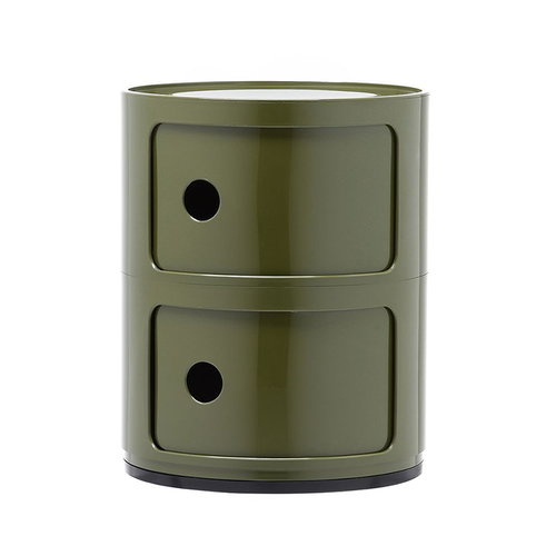 Kartell Componibili storage unit, 2 modules, green
